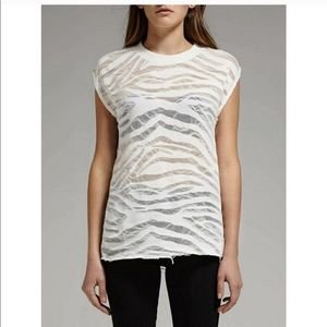 IRO jeans Striped Burnout Tee